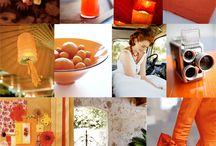 WEDDING THEME: Red, Orange + Yellow / Inspiration board for wedding theme in colours of red, orange and yellow