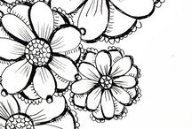 doodle | draw | colour / Doodles, sketches, illustrations, zentangles, how to draw / by GirlfriendShoes - Sarah