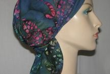 Headband Scarves / No tying necessary! An extremely comfortable slip-on head covering, headband and scarf all in one in a variety of fabrics and colors.