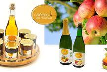 Nos confitures et nos boissons d'accompagnement / Garnitures pour crêpes et boissons d'accompagnement traditionnelles