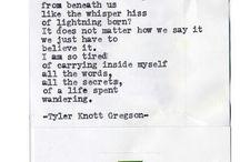 Tyler Knott Gregson / by Oksana Howard
