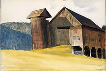 Edward Hopper in Vermont / This exhibit assembles for the first time many of Hopper's twenty-three known Vermont watercolors and six known drawings. Of these particular works, relatively unknown to most and rarely on view, are subjects that depict details of the hill farms bordering the White River. Marked by nuances of distinctive color, light, and shadow, they are studies in artistic process, illustrating how Hopper's vision of Vermont developed between the time of his first visit, in 1927, and his last, in 1938.