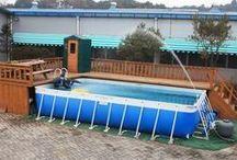 piscine devant véranda