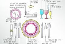 mesa posta / decoração de mesa