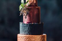 Wedding Cake Inspiration & Trends / Wedding Cake Trends 2018: Metallic, Marble, Watercolour, Geode and Drip Designs
