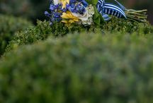 Blue & Yellow Bouquets