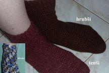 háčkované ponožky