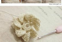 Crochet flowers, butterflies etc