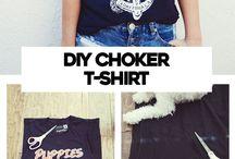 DIY choker t-shirt