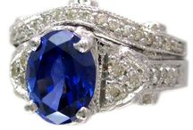 14K WHITE GOLD 2.65CTW OVAL SAPPHIRE AND ROUND CUT DIAMONDS ART-DECO ANTIQUE RING AND BAND