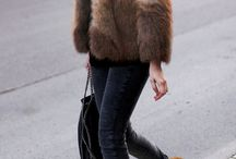 Outfit #5 / A brown fur coat, black hat, a Chanel bag, Oxford shoes, plain black sunglasses, black skinny jeans, a Burberry watch and brown straight hair. Hope you enjoy and maybe get some inspiration :),<3