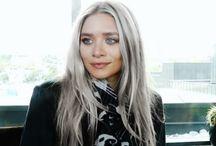 Gray Hair / gray hair, white hair, how to dye hair gray, celebs with gray hair