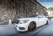 Introducing the new BD-8 Wheel Fitted on a Mercedes S-Class in Two Tone Black / Go to www.blaquediamond.com to see our full range