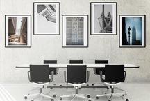 Office Collection / If you love architecture photography this collection is definitely for you. Elegant shapes, sharp lines, voluminous beauty can inspire your daily goals.  The collection includes 5 black frames with photos by Sara De Luca, Gianluca Micheletti, Ron Gessel, Gualtiero Bertoldi, artworks come ready to hang.  Our suggestion: this is a perfect set for your office. Arrange the artworks as you like to best fit your space.