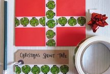 Christmas Sprouts / Love them or hate them sprouts are a Christmas icon and don't worry our tape isn't scratch and sniff so no smelly sprout whiff will accessorise your perfect parcels.