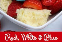 Red, White, Blue Foods