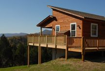 Cabins with hot tubs & fireplaces / by Angelique