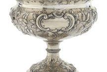 Серебрянные вазы
