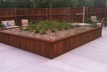 Planter Boxes / Custom Planter box.  Installed by Titan Fence & Supply Company.