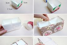 Crafts - recycled boxes, papers