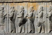 Achaemenid reliefs and stattues