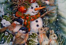 Новогоднее. / Рождественские и новогодние картинки.