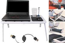 Portable Laptop Table Folding Bed Stand Adjustable Cooling Computer Desk Holder