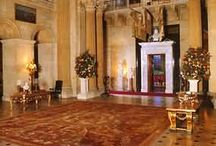 Grand Entrances, English Country House / Impressive scale evident in the grand entrances of English country houses.