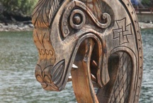 wood carving, NZ and Norway