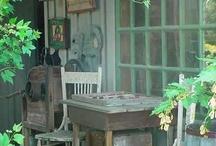 porch sittin and sleepin / by Leatrice Gulbransen