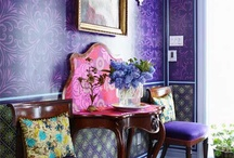 Passionate Purple / Purple is a royal color and pairs well with gray and white. Use purple as the color of choice in your next home decor project and it is sure to reign supreme and sit pretty next to gracious gray and wonderful white.