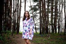 Geometric oversize dress