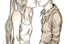 robin and starfire [Dick and Kory]
