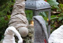 Joulu tonttuja cementti ja muusta