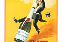 Champagne posters / Advertising of the earlier from Champagne. Reklame  van vroeger uit de Champagne.