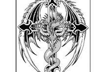 Faux tatouage animaux