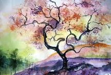 watercolor nature