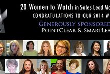 20 Women To Watch In Sales Lead Management 2014 / 2014's Winners of 20 Women To Watch in Sales Lead Management / by Sales Lead Management Assn