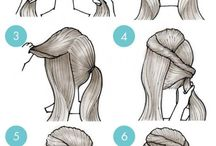 DIY Hair Twist Ponytail / Hair Tutorial : Twist Ponytail with pictures. 6 simple steps to create the perfect back to school hairstyle.