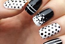 Nails black&white