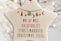 First Christmas / A board full of a lovely selection of notonthehighstreet.com first christmas products.