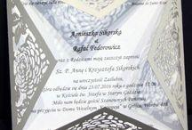 Papier - ślubne / Zaproszenia, winietki, zawieszki i inne wykonane z papieru przy użyciu lasera co2