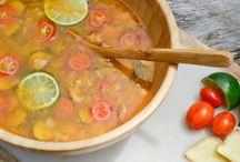 summer lime and ginger detox soup