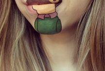 Geek ❤️ / Du lips façon dessin animé