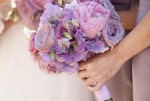 Pastel pink and lilac romantic wedding flowers