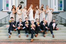 Bridal party photo shoots / Creative shoots with the bridal party ideas.