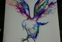 WaterColourTatts / ideas for water colour tattoo shading