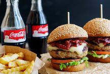 закуски и гамбургеры