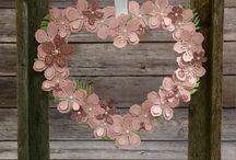 Library Heart wreath