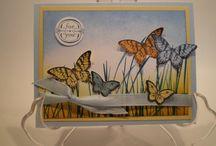 Kaarten vlinders/ cards butterfly